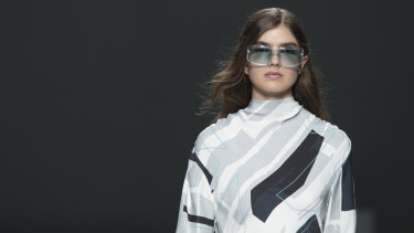 Larger sunglasses made a comeback at New York Fashion Week.