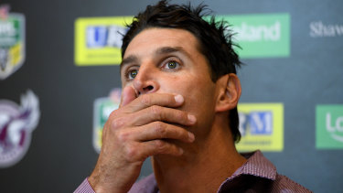 Looking for a new job: Former Manly coach Trent Barrett.