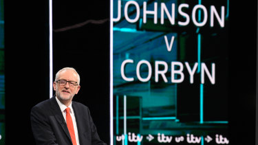 Fireworks but no great substance: Labour Party leader Jeremy Corbyn answers questions during the debate.