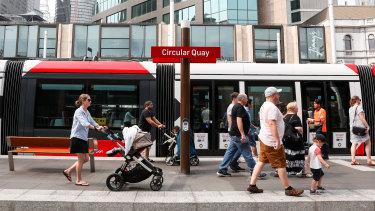 More than 115,000 people travelled on the light rail line for the first time at the weekend.