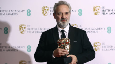 Sam Mendes with the best director award for 1917.