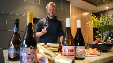 Chief executive of Vinomofo, Justin Dry, has seen online wine sales soar.