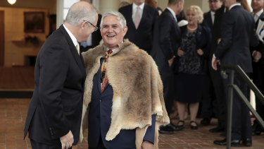 Minister for Indigenous Australians Ken Wyatt, pictured with Prime Minister Scott Morrison, is trying to broker a historic peace deal.