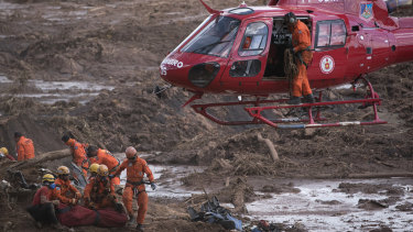 The aftermath days after a dam collapse in Brumadinho, Brazil, that killed hundreds of people in January.