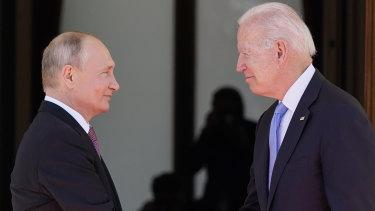 President Joe Biden and Russian President Vladimir Putin, arrive to meet at the 'Villa la Grange' in Geneva, Switzerland.