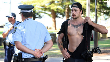News Corp photographer Dylan Robinson had his shirt torn at a Fraser Anning press conference last month.