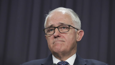 Malcolm Turnbull faced sustained attack from Tony Abbott.