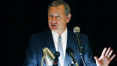 """US Chief Justice John Roberts is pushing back against President Donald Trump's description of a judge who ruled against the administration's new asylum policy as an """"Obama judge"""" ."""