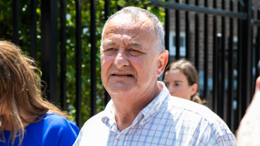 Milton Orkopoulos leaves court on Wednesday.