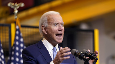 An Emerson College poll released late last week showed Joe Biden leading Trump by just two percentage points.