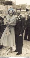 Jean Wilkin marrying Bert Smith in Melbourne in 1949.
