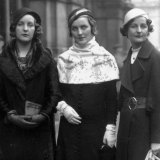 Wedding guests: Unity, Diana and <i>The Pursuit of Love</i> author, Nancy Mitford, in 1932.