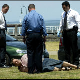 Purana detectives get their man: Carl Williams' arrest in Port Melbourne, November 2003.