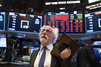 Stocks were swinging lower on Wall Street in early trading on Monday, local time.