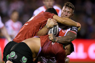 Tariq Sims is yet to play a club grade game with a one-ref system.