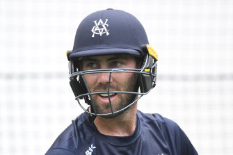 Glenn Maxwell at  state training this week.