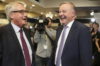 ALP president Wayne Swan, with Opposition Leader Anthony Albanese in 2019, will take over as Cbus chair in January.