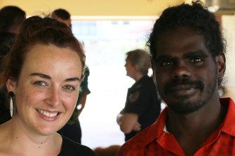 Bronwen Robertson with a client in Gunbalanya.