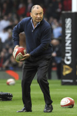 England rugby coach Eddie Jones before his side played Wales in February.