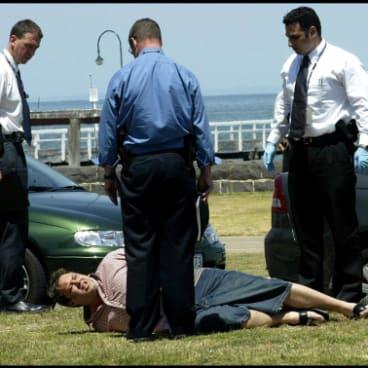 Purana detectives get their man: Carl Williams' arrest in Port Melbourne, November 2003.