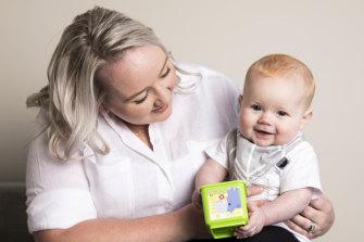 Jessica Mlozniak said Nepean Hospital and the Australian Breastfeeding Association both provided support with breastfeeding.