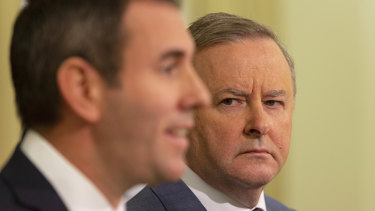 All options open: Opposition Leader Anthony Albanese with treasury spokesman Jim Chalmers.