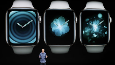 Jeff Williams, Apple's chief operating officer, speaks about the Apple Watch Series 4.