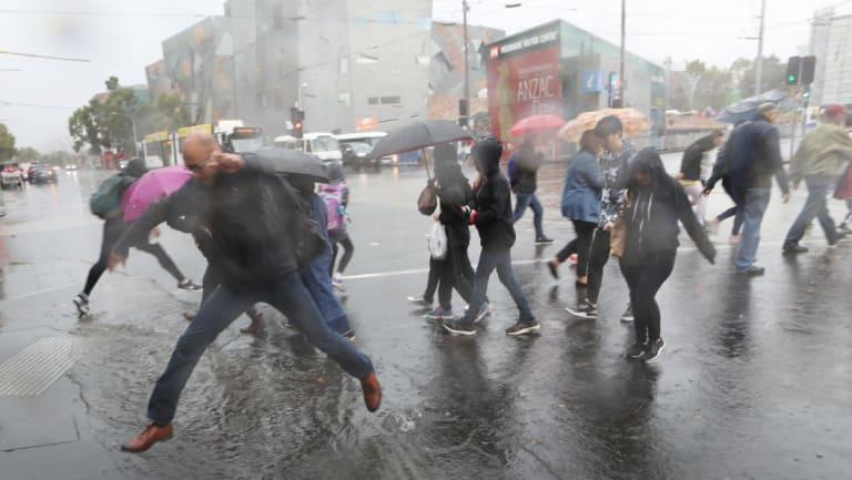 Rain is forecast to hit the city during Thursday's peak hour, between 4pm and 7pm.