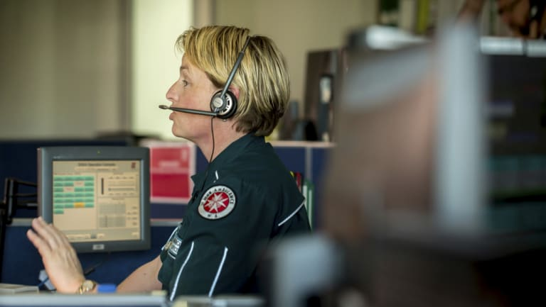 A dispatcher at the call centre.