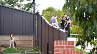 Horwood Drive in Ballarat has been cordoned off.