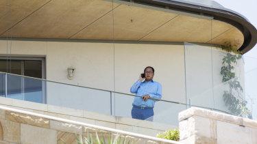 Huang Xiangmo at his palatial Mosman home before he was refused Australian citizenship.
