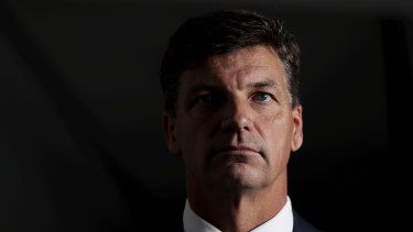 Federal Energy Minister Angus Taylor.