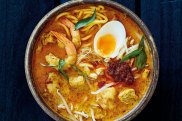 Adam Liaw's chicken and prawn laksa.