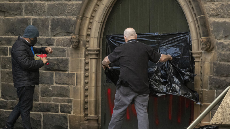 St Patrick's Cathedral vandalised after George Pell's release