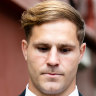 Jack de Belin says alleged victim was joking about his fame, jury hears