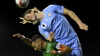 Melbourne City survive late scare against Marconi