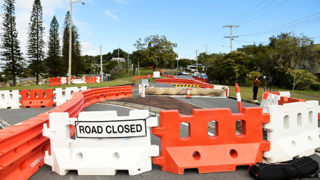 Barriers on the Queensland-NSW border.