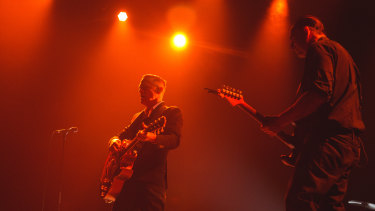 Adams and his guitarist, Keith Scott.
