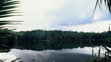 Buada Lagoon, on Nauru.