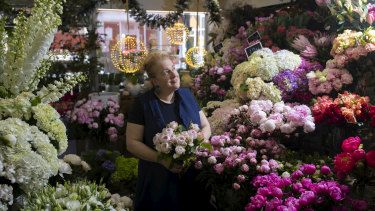 The owner of Flowers Vasette in Fitzroy Cherrie Miriklis-Pavlou is offering vegie boxes with flowers.