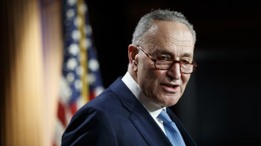 Senate Minority Leader Chuck Schumer said the House would transmit the article of impeachment on Tuesday (AEDT).