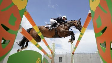 Andrew Hoy riding Bloom Des Hauts Crets during the Olympic equestrian test event in Tokyo last August.