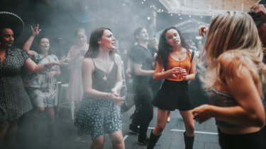 Brisbane patrons hit the dance floor at Sub Rosa as coronavirus restrictions are eased.