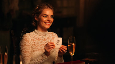 Samara Weaving in her latest movie, Ready or Not.