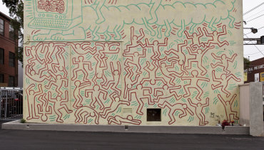 The famous Keith Haring mural.