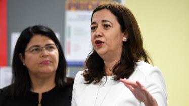 Queensland Premier Annastacia Palaszczuk and Education Minister Grace Grace announced a $136 million future teaching strategy including $10 million for principals' welfare.