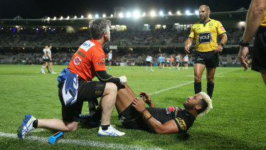 Penrith trainer Pete Green was warned against unnecessarily stopping the play earlier in the year when Villiame Kikau injured his ankle against Cronulla in round 14.