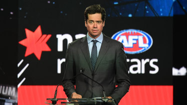 Promising signs: AFL chief executive Gillon McLachlan says the four northern state academies will remain largely unscathed.