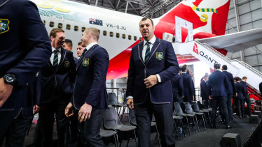 Wing and a prayer: Cheika at the squad announcement on Friday.