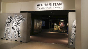 The Afghanistan: the Australian story exhibition at the Australian War Memorial in Canberra.